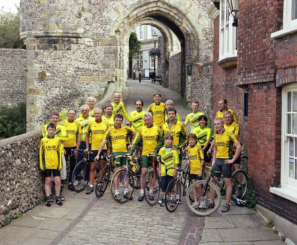 Outside Lewes castle in July 2004.